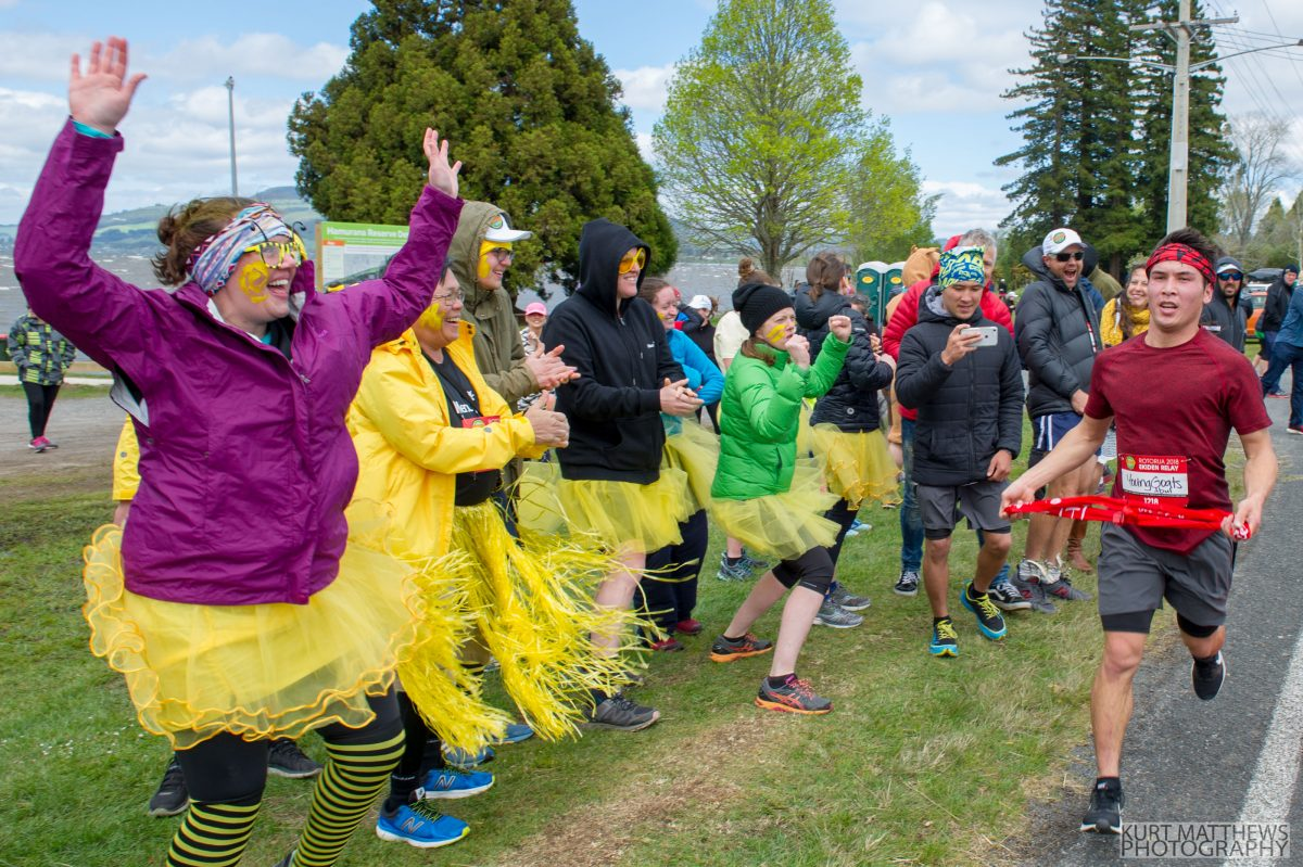 Enjoy the party atmosphere of Rotorua Ekiden fun team relay