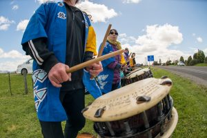 Japanese Taiko Drummers at the Rotorua Ekiden Fun Relay